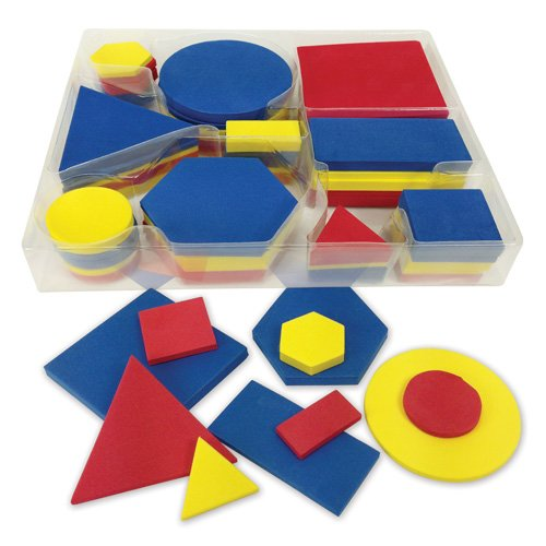 EAI Education QuietShape Foam Attribute Shapes - 10 Sets of 60