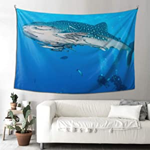 WHIOFE Whole Wall Tapestry Philippine Whale Shark Hang Wall Tapestry Rectangular Wall Tapestry 90x60 Inches(229x152cm) Wall Hanging Art Home for Living Room Bedroom