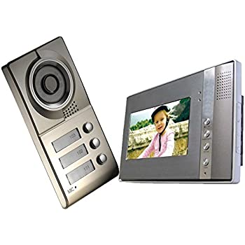 amazon com cusam 7 inch tft lcd color monitor 4 wires video door rh amazon com tft color monitor wiring tft color monitor manual