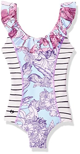 Maaji Big Girls' One Piece Swimsuit, Purple Stripe, 08 - Boutique One Piece