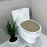 Printsonne Waterproof self-Adhesive Old Arabic Arabian Cultural Engraving History Tourist Attracti Toilet Seat Vinyl Art Stickers W13 x L16