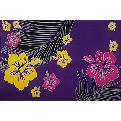 1 World Sarongs Womens Tropical Floral Swimsuit Cover-Up Sarong in Purple at Amazon Women's Clothing store: Fashion Swimwear Cover Ups