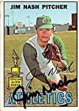 Jim Nash autographed baseball card (Oakland Athletics) 1967 Topps All Star Rookie #90