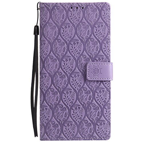 Price comparison product image Sony Xperia XA2 Ultra Case, Lomogo Leather Wallet Case with Kickstand Card Holder Shockproof Flip Case Cover for Sony Xperia XA2 Ultra - LOYYO24326 Purple