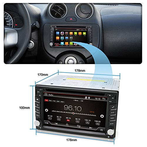 Double Din Head Unit,In Dash GPS Navigation Rear Stereo 2GB Android 7.1 Radio with Multi-Touch Screen,Car Audio,CD