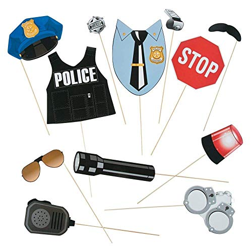 Police Party Photo Stick Props - 12 -