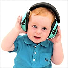 Kids Earmuffs Hearing Protection - Ear Defenders For Children, Padded Baby Ear Protection, Infants, Small Adults, Women - Adjustable Protector Noise Reduction Ear Muffs (sky blue)