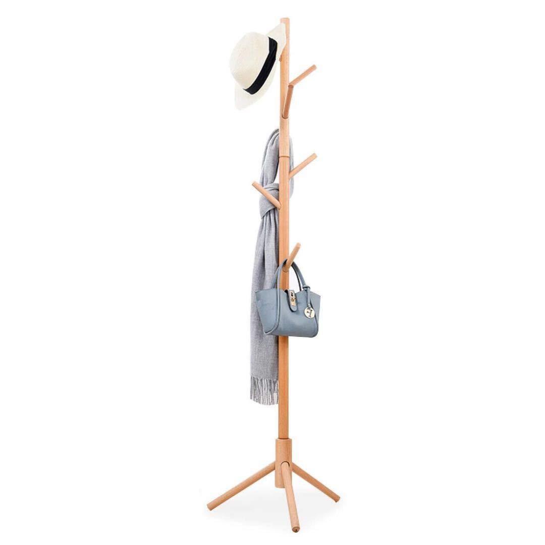 WYQSZ Coat Rack Solid Wood Floor Hanger Simple Hanger High-Grade Premium Beech Hanging Bag Rack - Coat Rack 8563