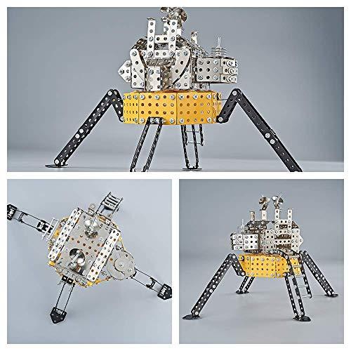 Lunar Lander Metal Building Toy, YSJ Simulate Construction Toy Model Construction Set STEM Learning Toy Metal Building Kit Best Gift for Boys and GirlsLunar Lander Model Kit Building Blocks Set