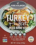 Fire and Flavor Turkey Perfect Herb Brining Kit,16.6 Ounce
