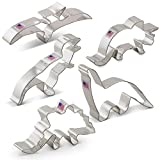 Product review for Dinosaur Cookie Cutter Set - 5 Piece - Triceratops, Stegosaurus, T-Rex, Brontosaurus and Pterodactyl - Ann Clark - US Tin Plated Steel