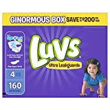 Luvs Ultra Leakguards Diapers Size 4, 160 Count фото
