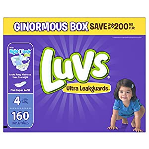 Luvs Ultra Leakguards Diapers Size 4, 160 Count