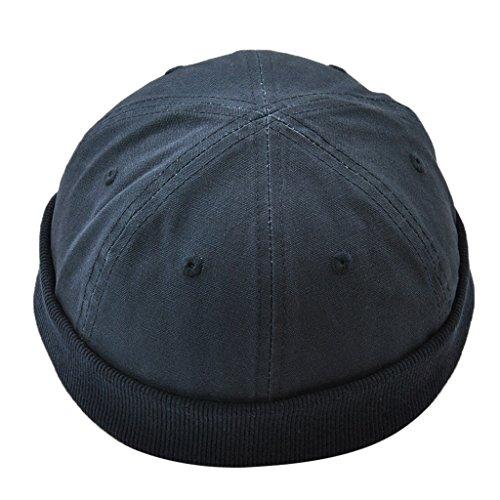 Marinero Beanie Algodón Homyl Invierno de para azul Casual Hombre Sombrero de profundo Gorro 8twnq5wrF