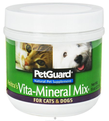 PetGuard Anitra's Vita-Mineral Mix Natural Pet Supplement, 8 Ounce