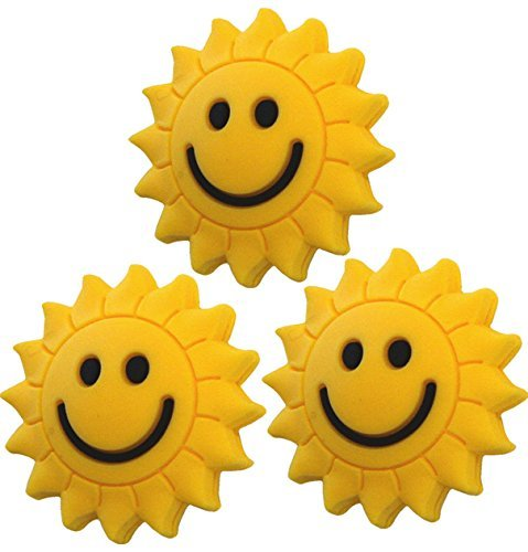 3 Sunshine Smiley Vibrationsdämpfer Tennis Emoji Pro H115x3