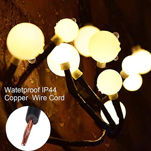 Globe Decorative String Lights,BaiYunPOY 8.3Ft 72 LED Hanging Indoor/Outdoor String Lights for Garden,Xmas Party,Bedroom,Dorm,Window Curtain Backyard,Party,Wedding(Warm White) by BaiYunPOY (Image #2)