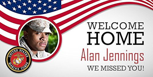 Personalized Welcome Home Marines Military Banner ()