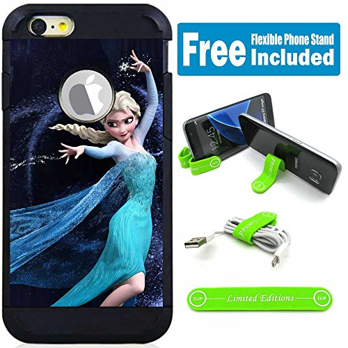Apple iPod Touch 5/6 5th/6th Generation Hybrid Armor Defender Case Cover with Flexible Phone Stand - Frozen Elsa Shoot G (Ipod 5th Generations Frozen Cases)
