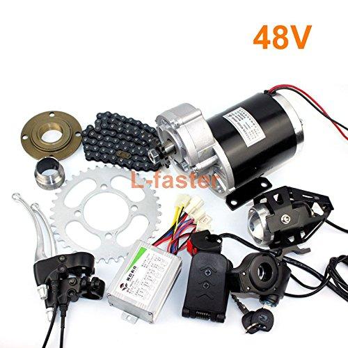 l-faster 24 V36 V48 V 450 W Electric Tricycle変換キットElectric Trikeギアモーター電動Rickshawキットmy1020z 450 W Brushedギアモーター B07DRG1SF9  48V pedal kit