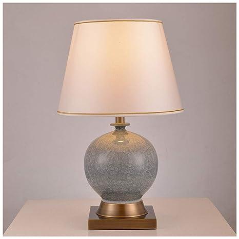 HW.Q Lámpara de Mesa, lámpara de Mesa Americana Botón de la ...