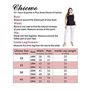 Chicwe Women's Plus Size Curvy Fit Boot Cut Pants – Casual and Work Pants Trousers