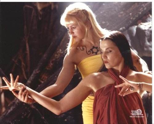 Xena Warrior Princess Lucy Lawless as Xena Renee O'Conner as Gabrielle with Tattoos 8 x 10 Photo