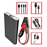 Image of HALF Minute Power 400A Peak 12V Mini Car Battery Jump Starter Emergency Booster Charger and Emergency Jump Pack Auto Jumper for Smart Phones,MP3-5 players, Wireless Headphones and much more(black)