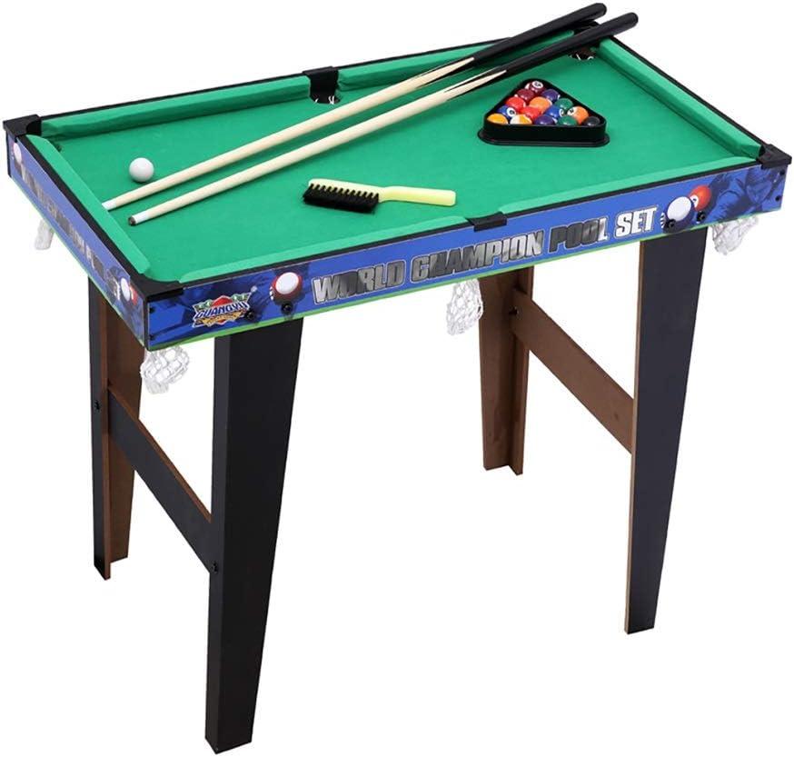 Mesa de billar Mesa de billar para niños Mesa de billar de densidad avanzada Duradero y no mohoso Club suave Aumente la experiencia de juego Regalo para niños (Color : GREEN ,