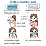 WEIAN Disposable Face Mask 3 Ply Surgical Mask