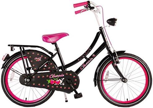 Bicicleta Niña 20 Pulgadas Dutch Oma Cherrie Freno Delantero Acero y Trasera Contropedal KT Negro: Amazon.es: Deportes y aire libre