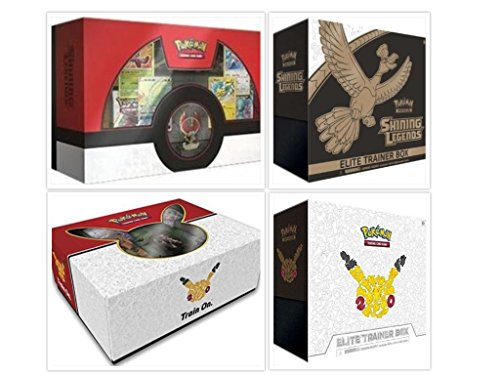 Ultimate Pokemon Trading Card Game Shining Legends and Generations Super Premium Collection Bundle. 2 Elite Trainers + 2 Super Premium Collections Mewtwo & Ho-Oh