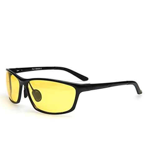 f21e16062dc8 Amazon.com  Night Vision yellow polarized sunglasses driving glasses  indestructible sport fishing
