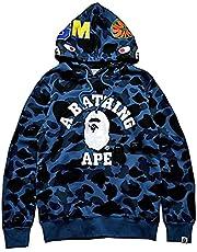 PADOLA 3D Gedrukt BAPE Haaienkop Rits Dunne Hoodie Voor Mannen Hip Pop Camouflage Brief Hooded Sweatshirt Met Zak