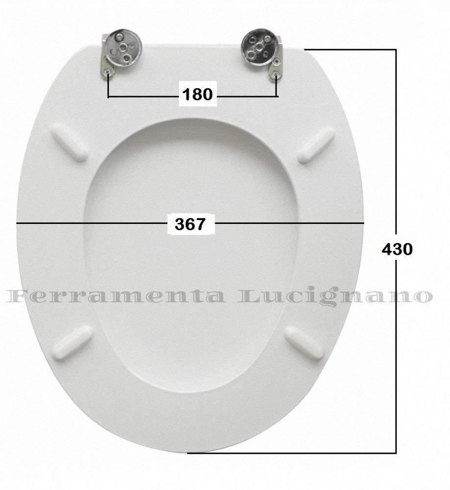 Coprivaso Tavoletta Sedile WC COPRIWATER UNIVERSALE MODELLO MILANO Bianco