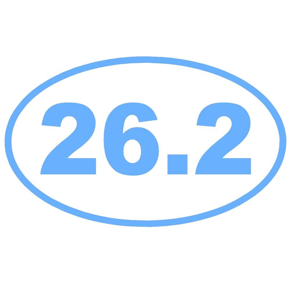 26.2 Full Marathon Running楕円形OL ( 2パック)ビニールデカールby stickerdad – サイズ: 3.5インチ、色:ライトブルー – Windows、壁、バンパー、ノートパソコン、ロッカー、など。   B07656FJXG