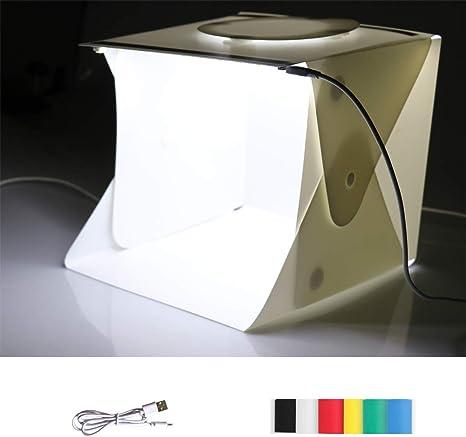 Vawal - Mini Estudio fotográfico portátil para Tiro, Caja de luz ...