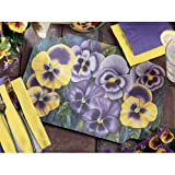 Hoffmaster 901-FD70 Fashion-Casual Floral 1 Pansies Printed Placemat -Victorian Die Cut, 9.75 x14 inch -- 1000 per case.