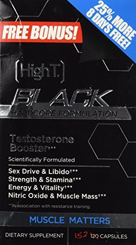 High T Black Hardcore Testosterone Booster for Men 152 Count