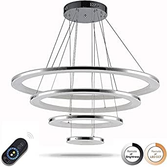 VALLKIN Modern Acrylic Pendant Light LED Dimmable Pendant Light Fixture Indoor Art Deco Lighting Hanging Lamp Suspension Lamps