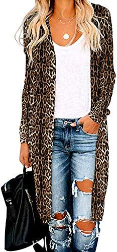 POGTMM Women's Casual Long Open Front Drape Lightweight Duster High Low Hem Maxi Long Sleeve Cardigan with Pocket(S-3XL) (B-L