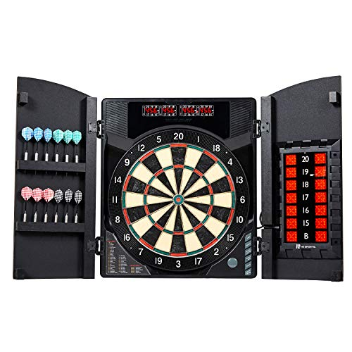 (MD Sports BristleSmart Dartboard with Cabinet)