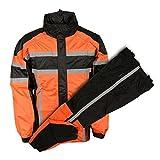 NexGen Men's Rain Suit (Black/Orange, 4X-Large)
