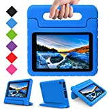 TIRIN All New Fire 7 2017 Case - Light Weight Shock Proof Handle Kid-Proof Cover Kids Case for All New Fire 7 Tablet (7th Generation, 2017 Release), Blue