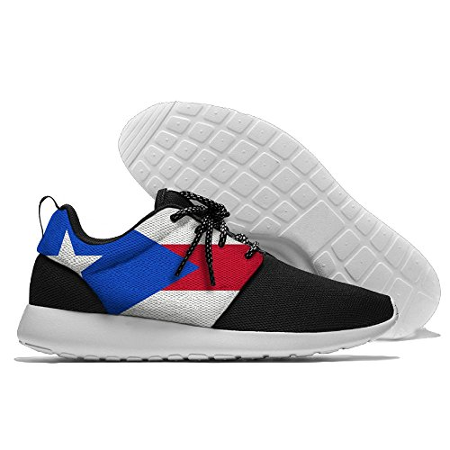 YOIGNG Mens Flag Of Puerto Rico Jogging Shoes Sport Sneakers Casual Shoes JWpvcFl