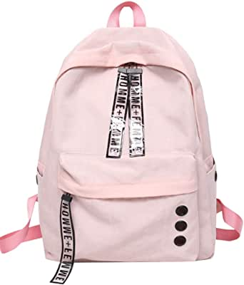 Women's BackpackLetter Print Casual Simple Design Backpack Korean Version of Harajuku Ulzzang High School Student Backpack