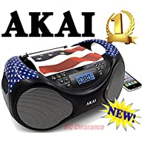 Akai CE2000-USA CD/AM/FM Portable Boombox Limited Edition with LCD Display + Aux + Bass Boost
