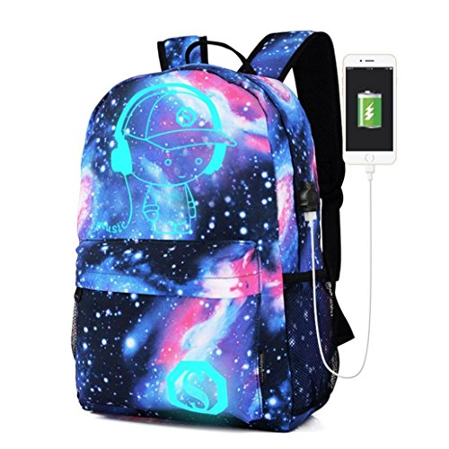 YJYdada Backpack, Galaxy School Travel Hiking Bag Backpack Collection Canvas For Teen Girls Kids (B) (Collection Drawstring Hobo)