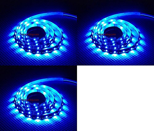 HobbyFlip 3 x Quantity of Helicopter Quadcopter Airplane Boat Car Controller Turnigy High Density R/C LED Flexible Strip - BLUE (1 meter) Night Flying by HobbyFlip