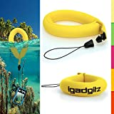 iGadgitz 1 Pack Neon Yellow Waterproof Floating Wrist Strap suitable for Vtech Kidizoom Action Cameras